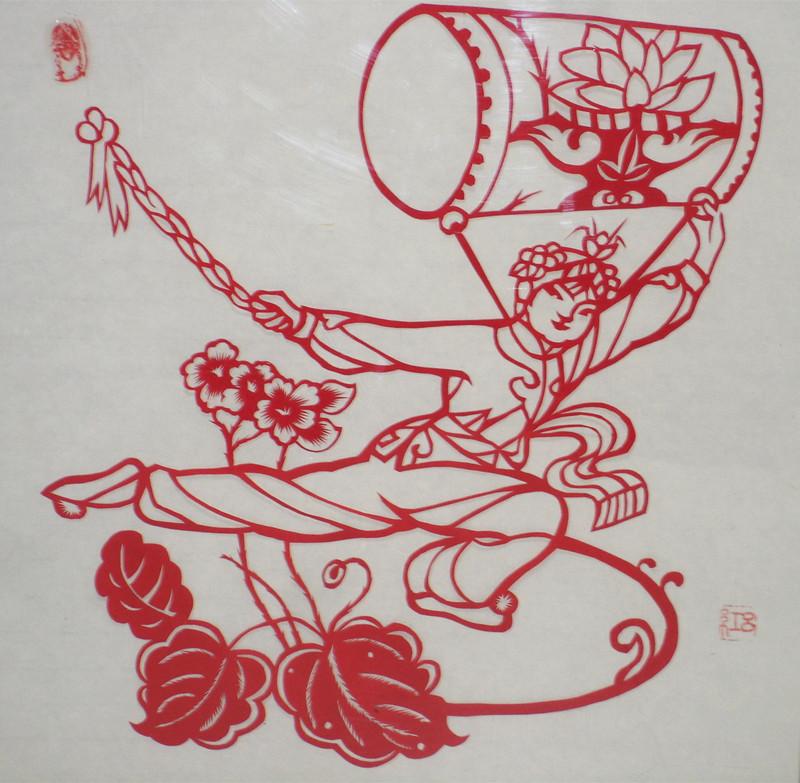 吕红绘画剪纸作品